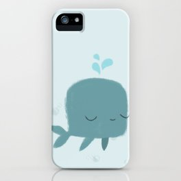 happy whale iPhone Case