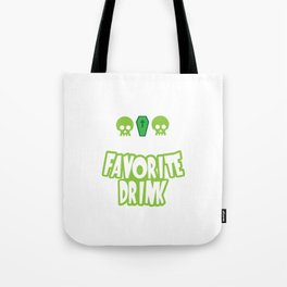 Grim And Tonic Is My Favorite Drink Halloween Tote Bag