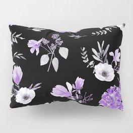 Lavender & Black Pattern Pillow Sham