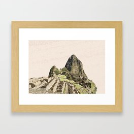 ArtWork Painting Machu Picchu Peru Paint Framed Art Print