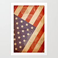 patriotic Art Prints featuring Patriotic  by Cloz000