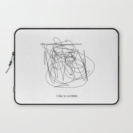 I like to scribble Laptop Sleeve