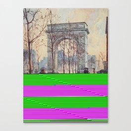 Lewis, Martin (1881-1962) - New York 1911 - Washington Arch on a wet day Canvas Print