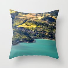 Painted Shore Throw Pillow