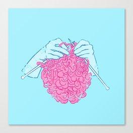 Knitting a brain Leinwanddruck