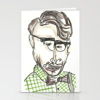 tom selleck Stationery Cards featuring Tom by Sadie Padial