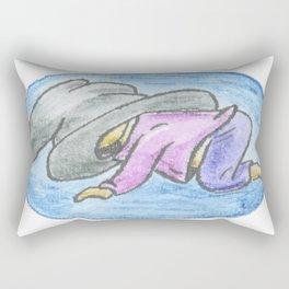 Toddler Witch - Inktober Rectangular Pillow