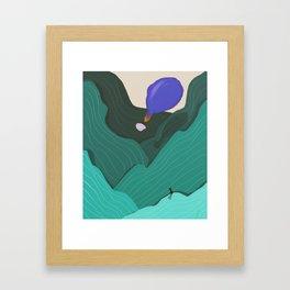 balloon of hot air Framed Art Print