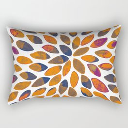 Watercolor brush strokes - rusty effect Rectangular Pillow