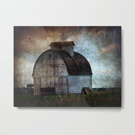 Big White Barn Metal Print