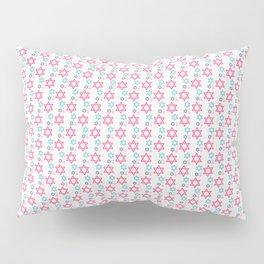 Star of David Pink Colors Pattern Pillow Sham