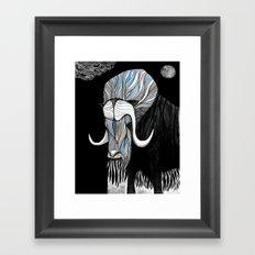 Muskox blk Framed Art Print