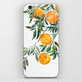 orange watercolor iPhone Skin