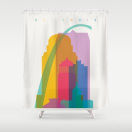 Shapes of St. Louis. Accurate to scale Shower Curtain