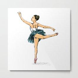 Ballerina Print Metal Print