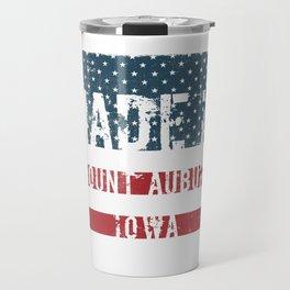 Made in Mount Auburn, Iowa Travel Mug