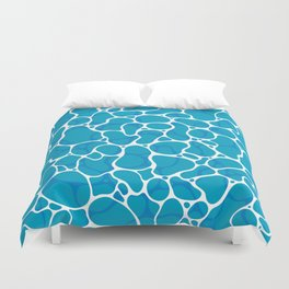 The Great Sea: Graphic Ocean Water Pattern Duvet Cover