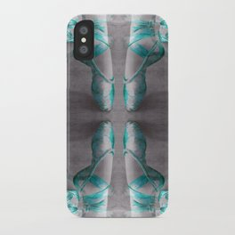Ballet Shoe Blue reflection iPhone Case