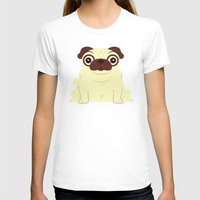 pug T-shirts featuring Pug by Hoborobo