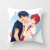 viria Throw Pillows featuring dense by viria