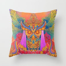 Goddess of the Night Throw Pillow