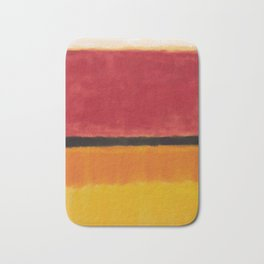 1949 Untitled (Violet, Black, Orange, Yellow on White and Red) by Mark Rothko Bath Mat