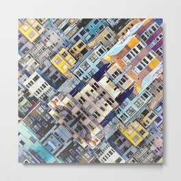 Apartments In The City Metal Print