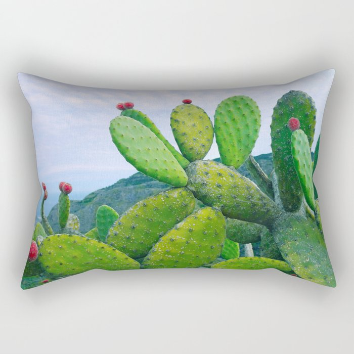 Blooming cacti Rectangular Pillow