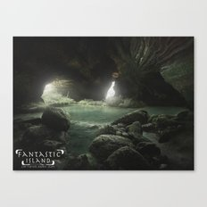 Fantastic Island Cave Canvas Print