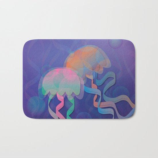 Chromatic Jellyfish Bath Mat
