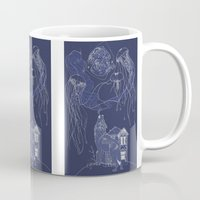 jelly fish Mugs featuring Jelly Fish by Jessica Bowman Illustrates