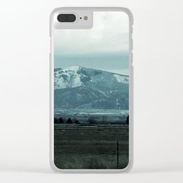 Snowy mountain Clear iPhone Case