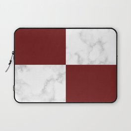 marble and red tiles Laptop Sleeve