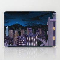 mega man iPad Cases featuring Mega Man Title Screen by ansimuz