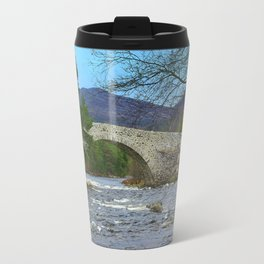 Bridge of Dee, Brig O Dee, River Dee, Balmoral, Scotland Travel Mug