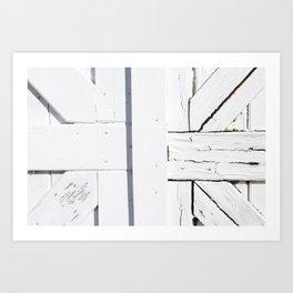 Art Deco White Wooden Gate Art Print