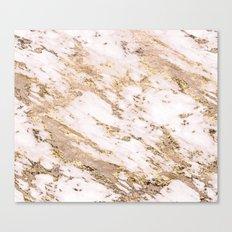 Golden smudge - blush marble Canvas Print