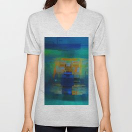 Abstract Composition 200 Unisex V-Neck
