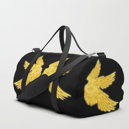 Golden Archangel Wings Duffle Bag