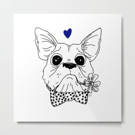Dapper Frenchie Metal Print