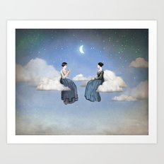 Wind, Clouds and Tea Art Print