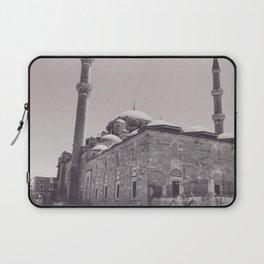 Istanbul mosque photo, black & white fine art, Turkey photography, Middle East Laptop Sleeve