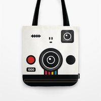 polaroid Tote Bags featuring polaroid by The Geek Store