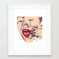 miley cyrus Framed Art Prints featuring Miley cyrus by Jordan Spring