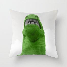 T-Rex in a Mood Throw Pillow