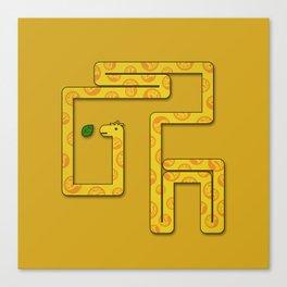 giraffe in snake game Canvas Print