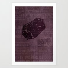 The Grapes of Wrath by John Steinbeck Book Cover Re-Design Art Print