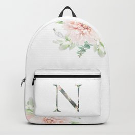 N - Floral Monogram Collection Backpack
