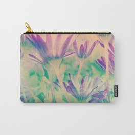 Dreamy Spring Lavender Daisy Flowers Carry-All Pouch