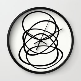 Come Together - Black and white, minimalistic, abstract, art print Wall Clock